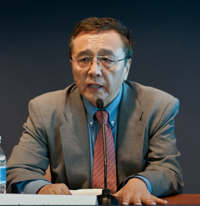 Jigme Ngapo, Tibet specialist, speaking at the Elliott School of International Affairs in Washington DC